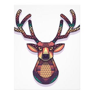 deer animal with horns letterhead design