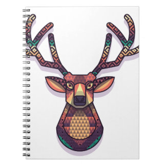 deer animal with horns notebooks