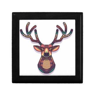 deer animal with horns trinket box