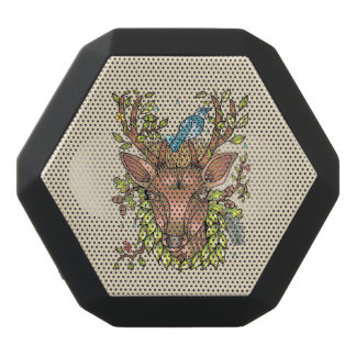 Deer Antler Bird Nest Black Bluetooth Speaker