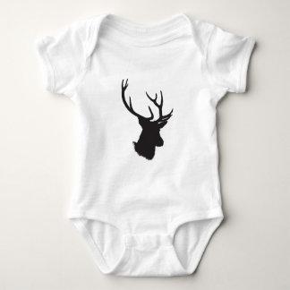 deer antler silhouette baby bodysuit