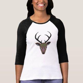 Deer Antler Wildlife Hunter Totem Graphic T-shirt