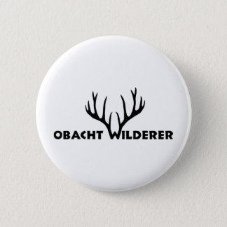 deer antlers party wilderer hunter hunt 2 inch round button