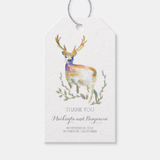 deer antlers rustic wedding gift tags