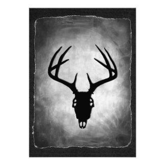 Deer Antlers Skull pattern Custom Invitations