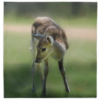 Deer are so sweet printed napkins