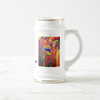 deer art beer stein