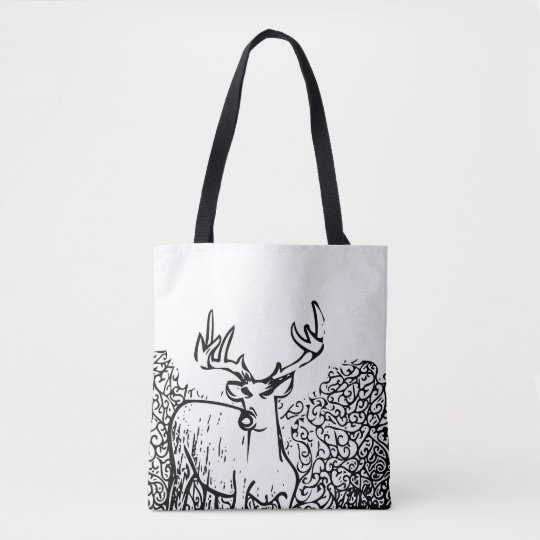 Deer Art Tote Bag