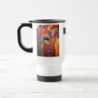 deer art travel mug