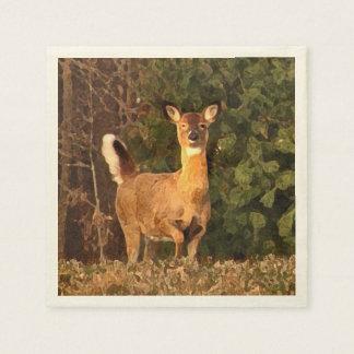 Deer at Sunrise Disposable Napkins