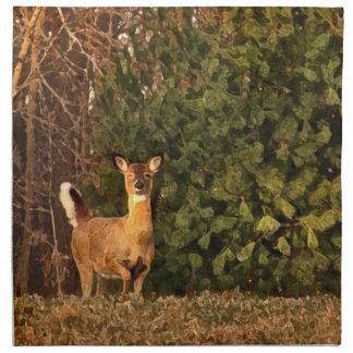 Deer at Sunrise Cloth Napkin