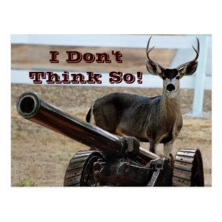 Deer At War Postcard