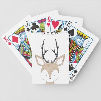 Deer Bicycle Playing Cards