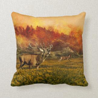 Deer buck Autumn  decor pillow