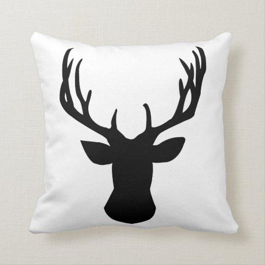 Deer Buck Design Throw Pillow