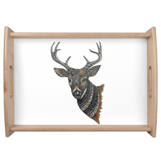 Deer Buck with Intricate Design Food Trays
