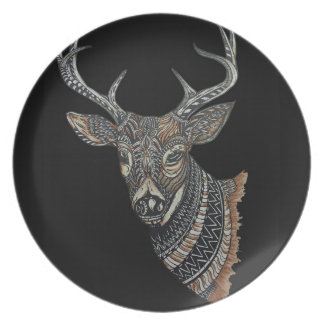 Deer Buck with Intricate Design Plates