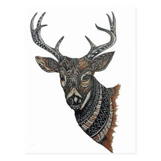Deer Buck with Intricate Design Postcard