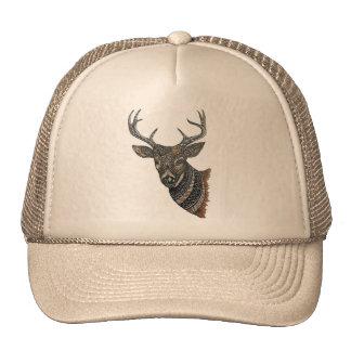 Deer Buck with Intricate Design Trucker Hat