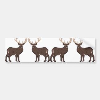 deer bumper sticker