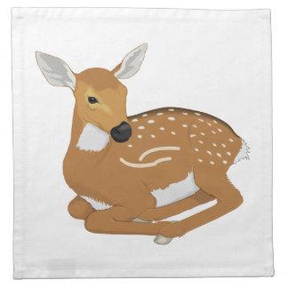 Deer cartoon cloth napkins