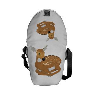 Deer cartoon messenger bags