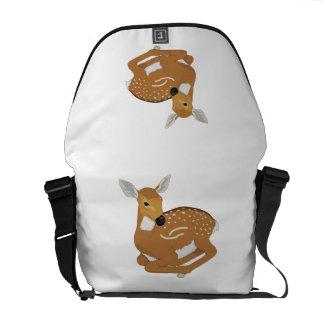Deer cartoon messenger bag