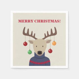Deer Christmas Disposable Napkins