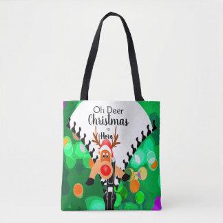 Deer Christmas is Here Christmas Holiday  Gift Tote Bag