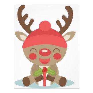 deer christmas letterhead