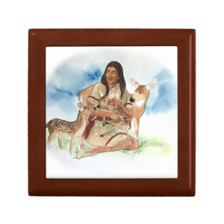 Deer Clan Mother With Her Fawns Gift Box