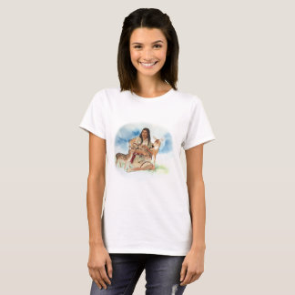 Deer Clan Mother With Her Fawns T-Shirt