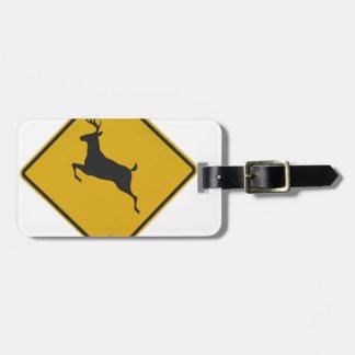 deer-crossing-sign luggage tag