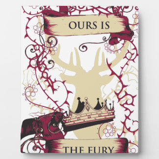 deer crown our is the fury plaque