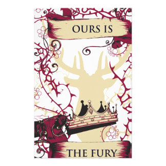deer crown our is the fury stationery design