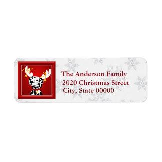 Deer Dalmatian Dog RA Return Address Label