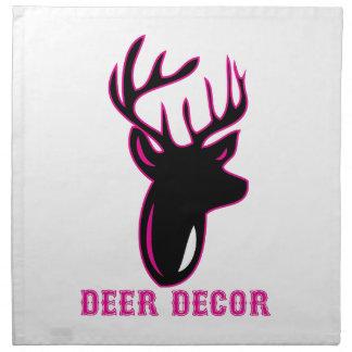 Deer Decor Printed Napkins