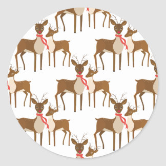 Deer deer of deer steam turbine and gas turbine sy classic round sticker