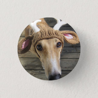 Deer dog - cute dog - whippet 1 inch round button