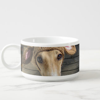 Deer dog - cute dog - whippet bowl