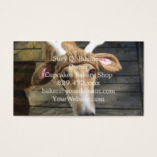 Deer dog - cute dog - whippet business card
