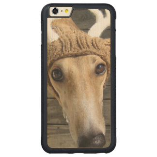 Deer dog - cute dog - whippet carved maple iPhone 6 plus bumper case