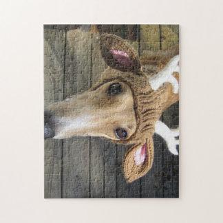 Deer dog - cute dog - whippet jigsaw puzzle