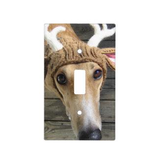 Deer dog - cute dog - whippet light switch cover