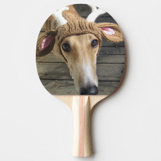 Deer dog - cute dog - whippet ping pong paddle