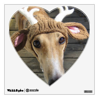 Deer dog - cute dog - whippet wall decal