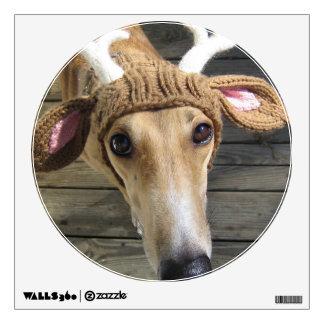Deer dog - cute dog - whippet wall sticker