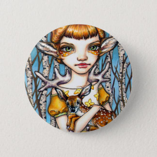 Deer Dorothy 2 Inch Round Button