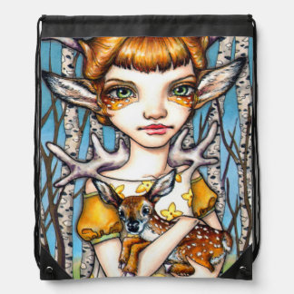 Deer Dorothy Drawstring Bag