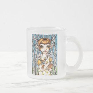 Deer Dorothy Frosted Glass Coffee Mug